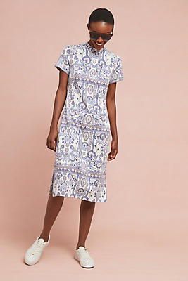 Slide View: 1: Lea Embroidered Dress