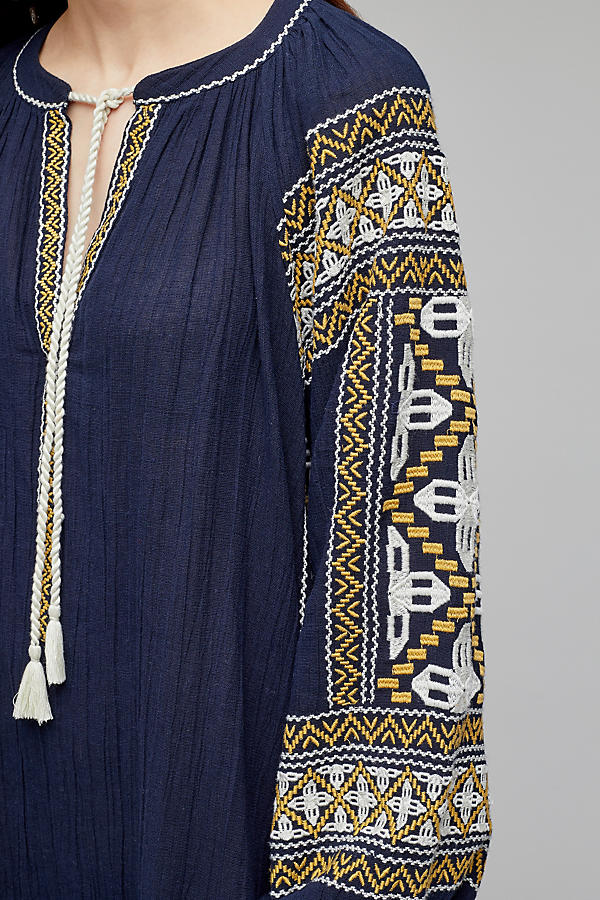Slide View: 3: Anjou Embroidered Tunic Dress