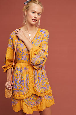 Slide View: 1: Lisette Embroidered Tunic Dress