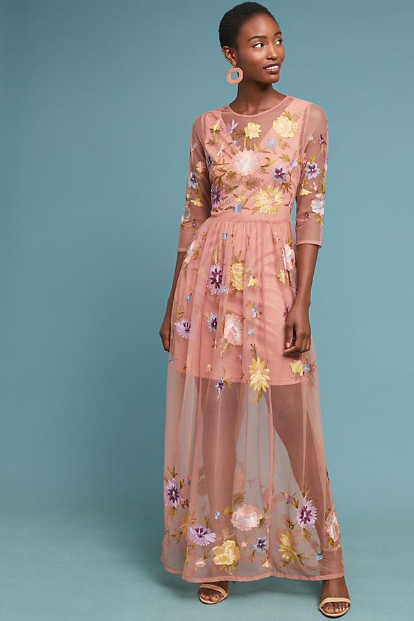 Palais Maxi Dress - Pink, Size S