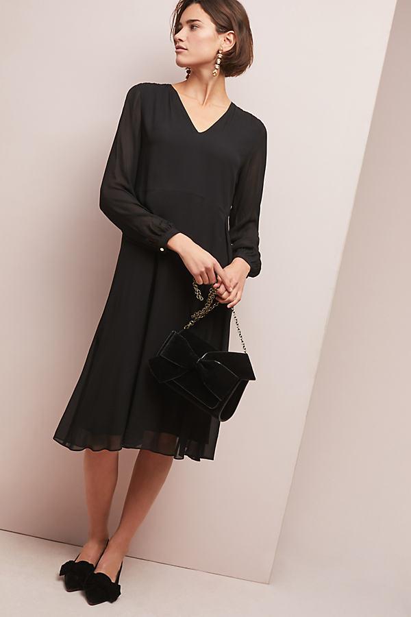 Selected Femme Fete Dress - Black, Size Uk 10