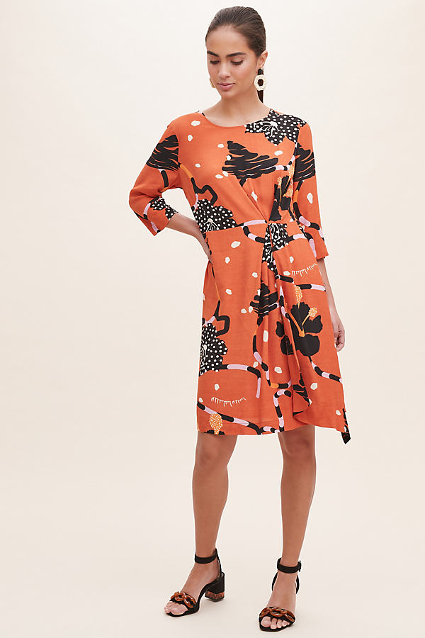 Selected Femme Kiara Printed Dress - Assorted, Size Uk 14