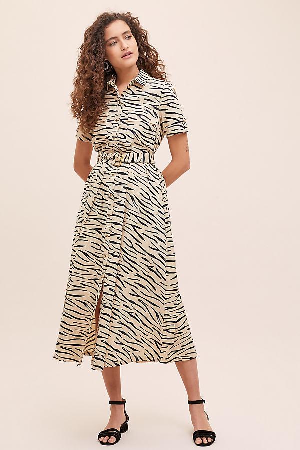 Selected Femme Dina Printed-Shirtdress - Assorted, Size Uk 16