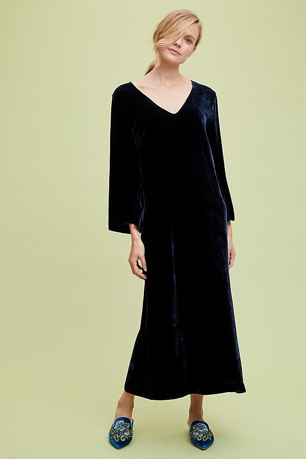 Elle Velvet Dress - Black, Size Uk 8