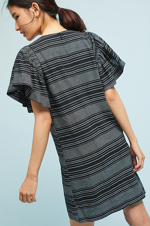 Slide View: 4: Denmark Striped Tunic Dress, Black