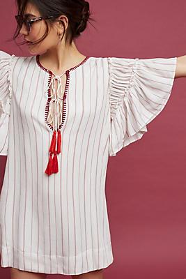 Slide View: 1: Ira Tasseled Mini Dress