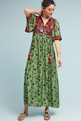 Slide View: 1: Basil Embroidered Dress