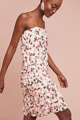 Slide View: 1: Tiered Polka Dot Dress