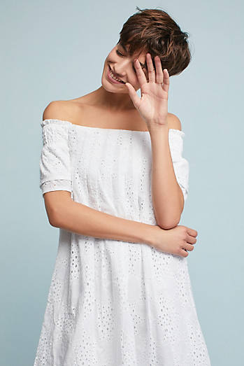 Carter Off-The-Shoulder Swing Dress