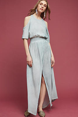 Slide View: 1: Avenia Open-Shoulder Maxi Dress