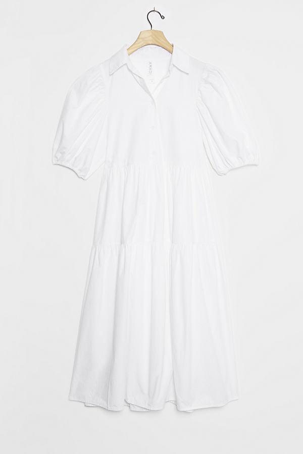 Cordelia Tiered Midi Shirtdress