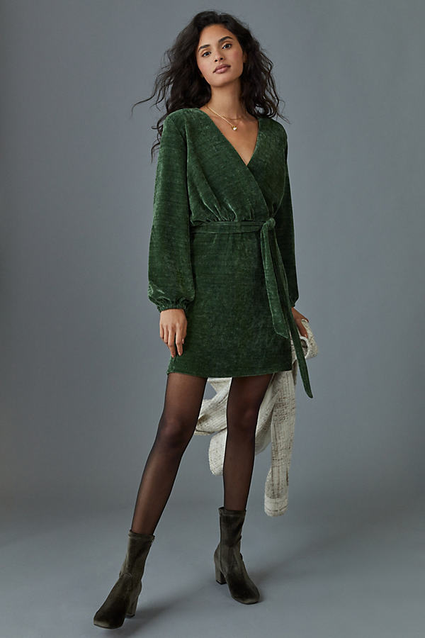 Amadi BURGUNDY MINI DRESS