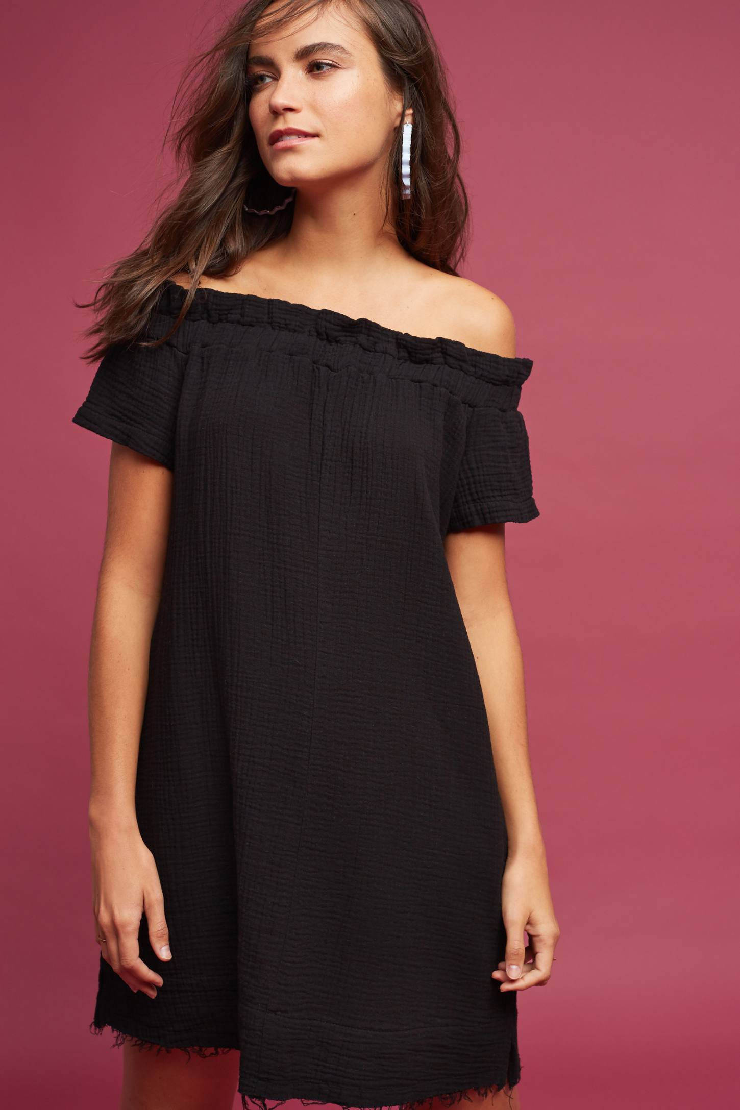 If you're looking for a dress that is as edgy as it is comfortable and easy to wear, you'll love this tunic style dress with its one shoulder slash neck and wide sleeves.5/5(1).