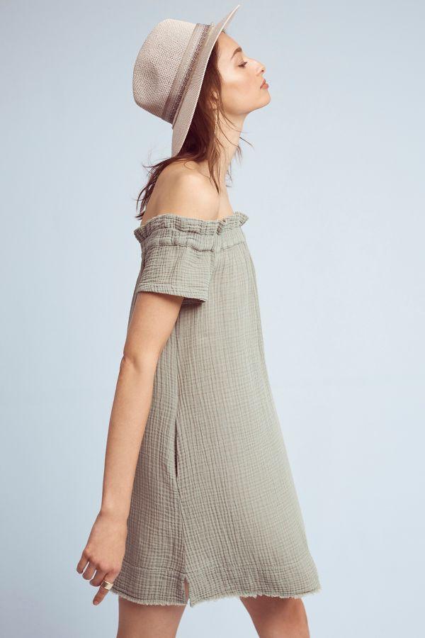 Amadi Maella Off-The-Shoulder Tunic Dress