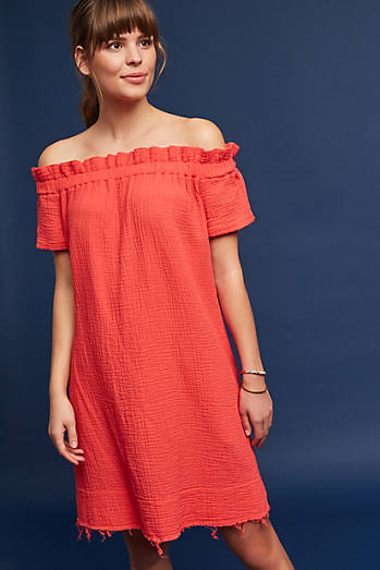 Maella Off-The-Shoulder Tunic Dress