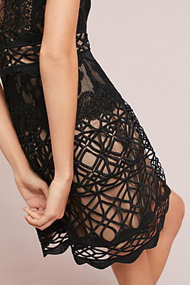 Slide View: 3: ML Monique Lhullier Black Lace Dress
