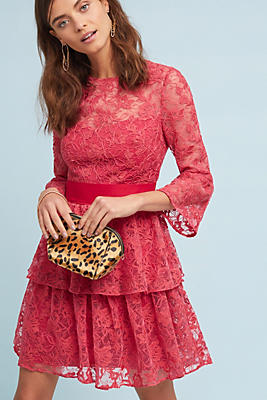 Slide View: 1: ML Monique Lhuillier Embellished Rose Dress
