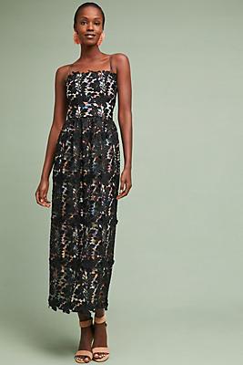 Slide View: 1: ML Monique Lhuillier Tamara Lace Dress