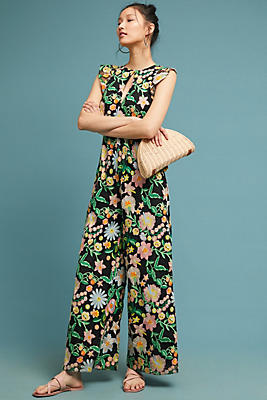 Slide View: 1: Poppy Embroidered Jumpsuit