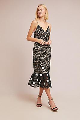 Slide View: 1: ML Monique Lhuillier Cherie Lace Dress