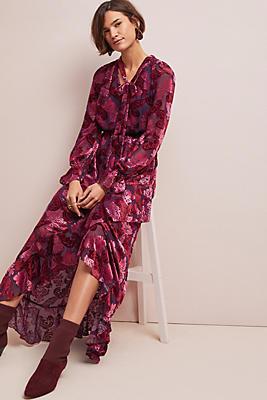 Slide View: 1: ML Monique Lhuillier Palais Velvet Dress