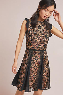 Slide View: 1: ML Monique Lhuillier Calypso Lace Dress