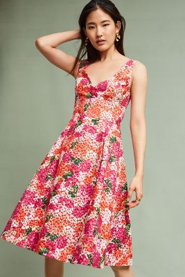 Slide View: 1: Riona Embroidered Dress