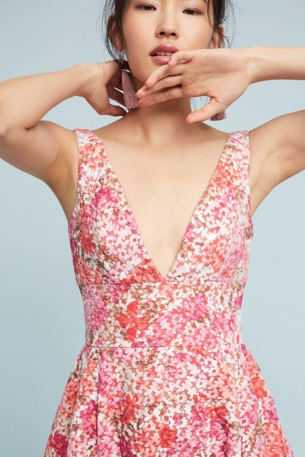 ML Monique Lhuillier Jessa Embroidered Dress