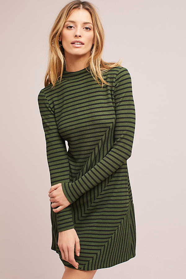 Structured Knitwork Dress - Moss, Size S