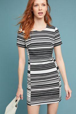 Hutch   Brixton Striped Dress  -    BLACK & WHITE