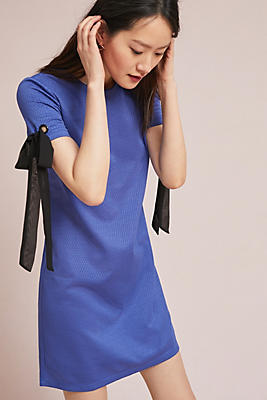 Slide View: 1: Cyress Tied-Sleeve Dress