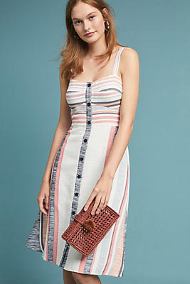 Slide View: 1: Pastel Striped Dress
