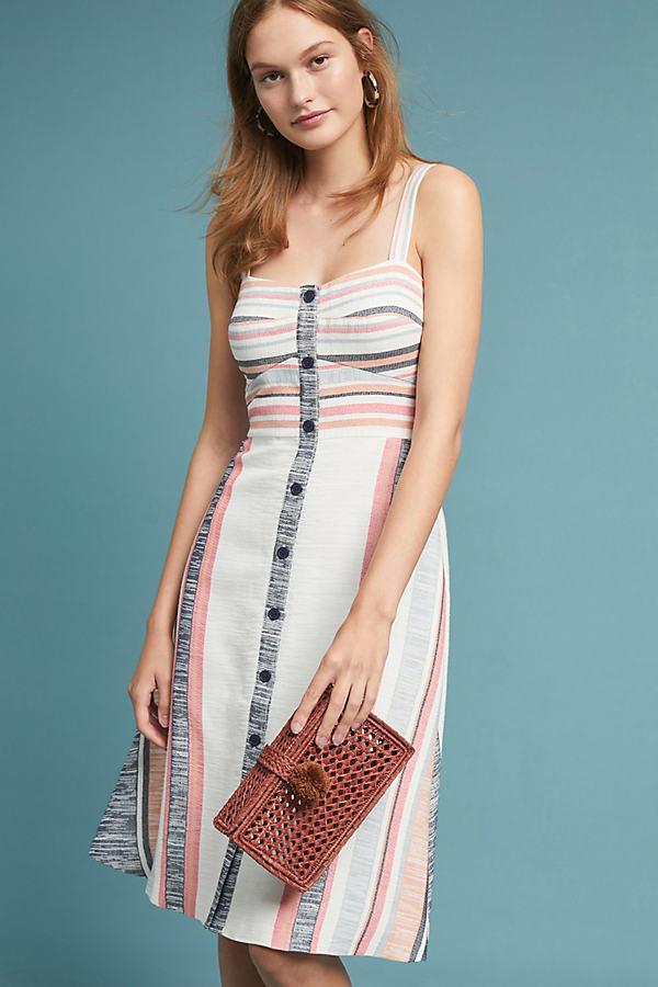 Gestreiftes Kleid in Pastell - Sortiert