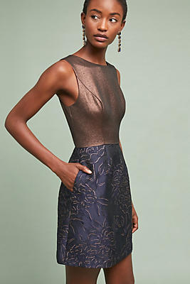 Slide View: 1: Lina Metallic Dress