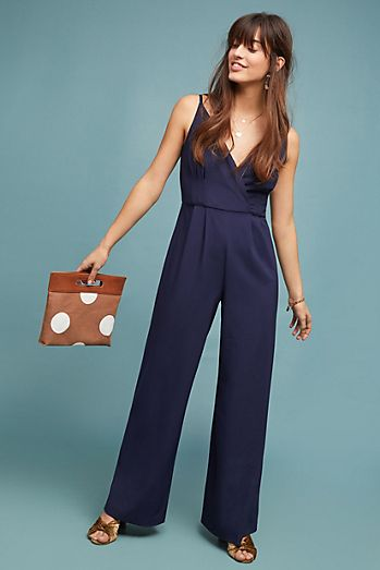 velvet striped petite jumpsuit