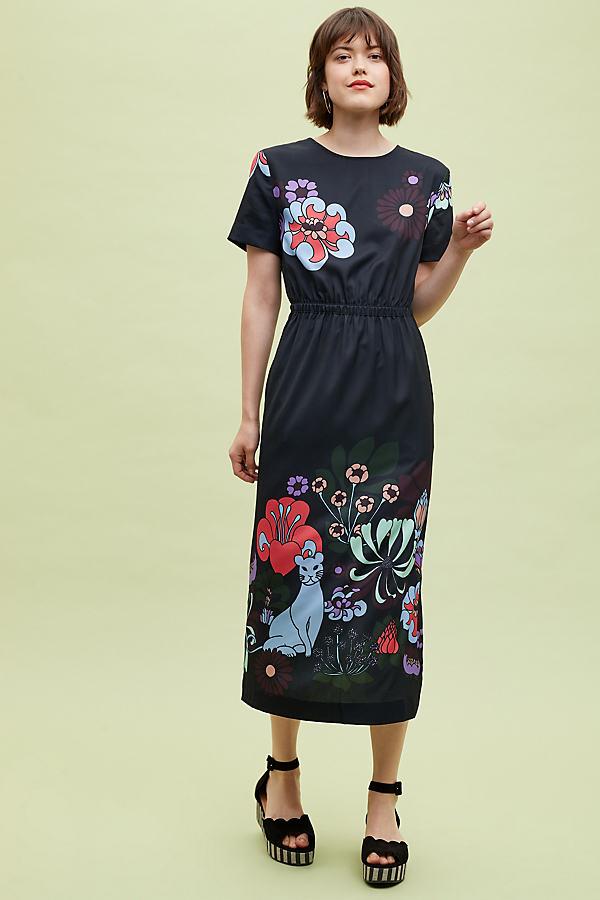 Essentiel Antwerp Nancy Printed Midi Dress - Assorted, Size Uk 6
