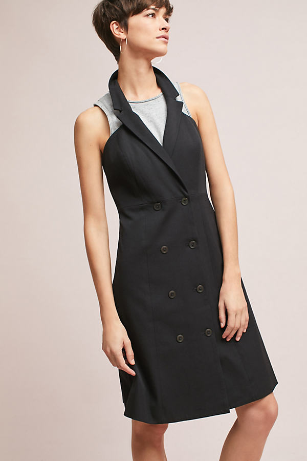 Loretta Double-Buttoned Blazer Dress - Black, Size Uk 6