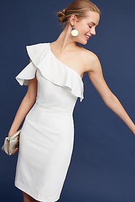 Slide View: 3: Evelyn One-Shoulder Dress