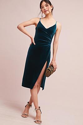 Slide View: 1: Ursa Velvet Wrap Dress