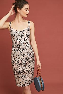 Slide View: 1: Leopard Sheath Dress