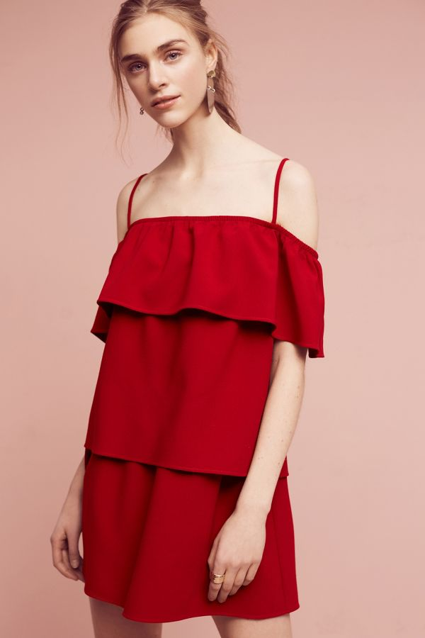 Black Halo Primrose Tiered Mini Dress
