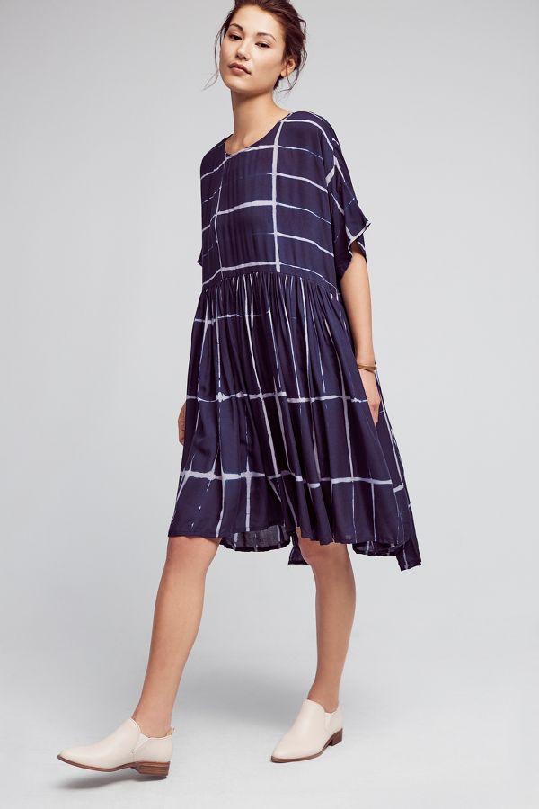 NORBLACK NORWHITE Dyed Swing Dress