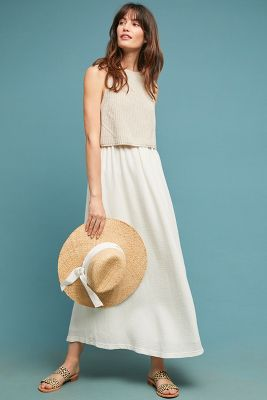 Layered Jumper Maxi Dress by Moth