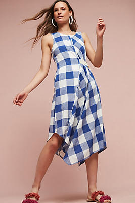Slide View: 1: Belted Gingham Dress