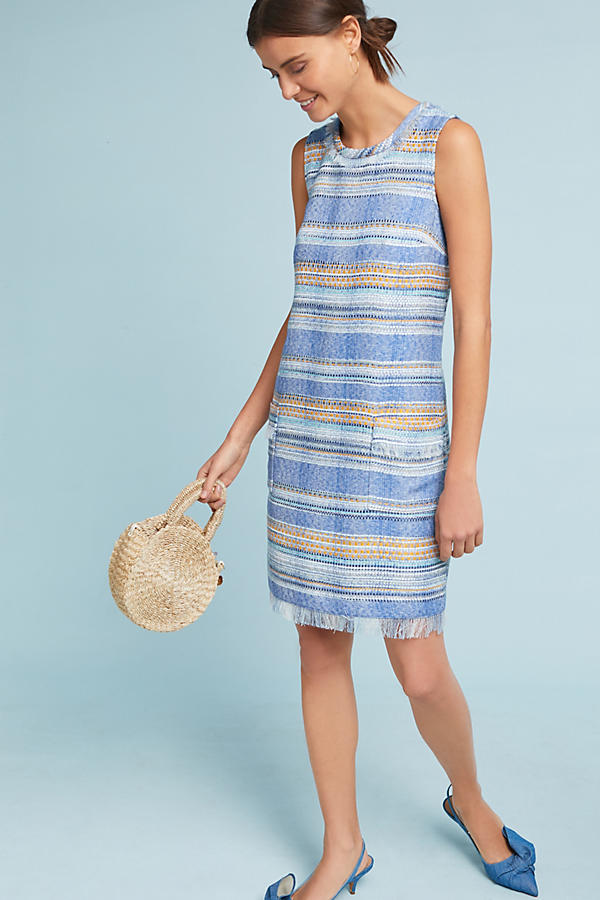Slide View: 1: Striped Tweed Shift Dress