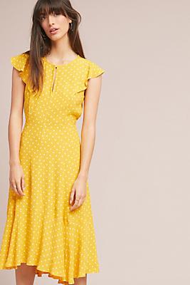 Slide View: 1: Caroline Flutter-Sleeve Dress