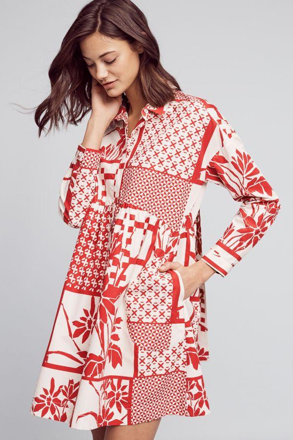 Maeve Printmaker Poplin Shirtdress
