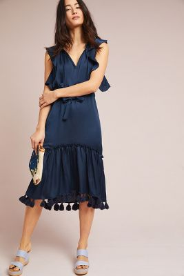 Midnight Blue Halter Dress