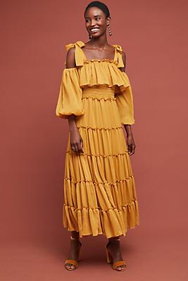 Slide View: 1: Nadine Open-Shoulder Dress