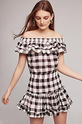 Slide View: 1: Carrington Off-The-Shoulder Mini Dress